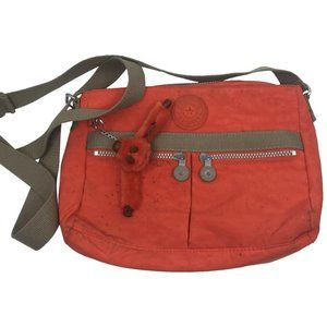 Kipling Orange Nylon Medium Crossbody Bag